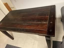 teak esstisch tisch wohnzimmer küchentisch massiv holz 160 x 90cm