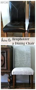 reupholster diy esszimmerstuhl makeover mädchen in th