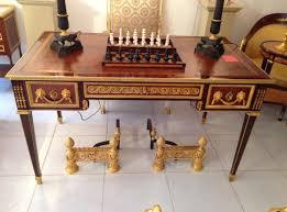 bureau acajou bureau plat en acajou modèle de riesener par gouverneur xixe