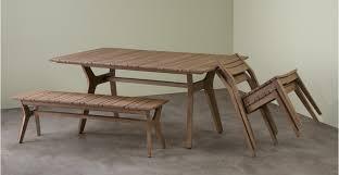 2 x aaron outdoor dining chair acacia made com