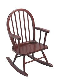 Gi'Mark Children's Windsor Rocking Chair In Cherry Color