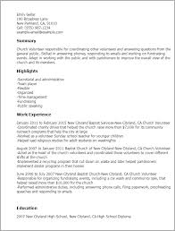 professional church volunteer templates to showcase your talent