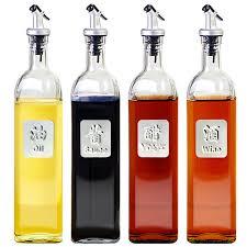huile cuisine verre de stockage bouteilles pour huile et vinaigre cuisine