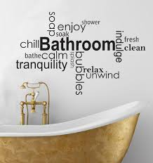 decorative words for walls wall ideas design bathroom ideas words wall stunning