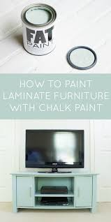 How to paint a laminate TV stand The Inspired Hive