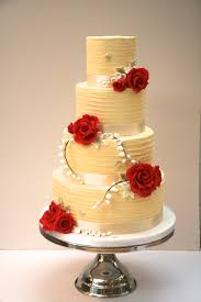 White Chocolate Ganache Wedding Cake With Sugar Flowers