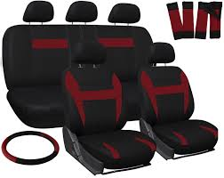 Oxgord Tactical Floor Mats by Truck Seat Covers For Dodge Ram Red Black W Steering Wheel Belt