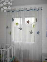 rideau pour chambre bébé sur commande rideau enfant voilage étoile tissu et satin autres