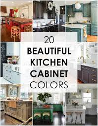 Color Ideas For Painting Kitchen Cabinets 20 Kitchen Cabinet Colors Combinations With Pictures