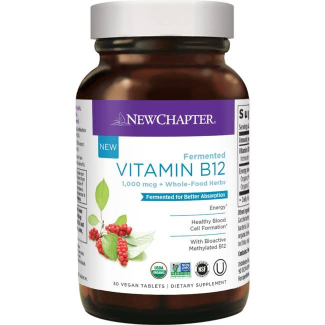 New Chapter Fermented Vitamin B12 - 30 Tablets