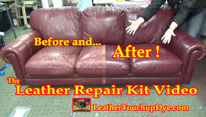 Chateau Dax Leather Sofa Macys by Leather Repair Kit Video Youtube