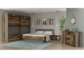 schlafzimmer clif binou komplett set 4 teilig wood