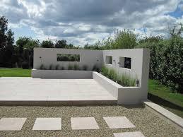 Art Deco Garden Design Contemporary Patio With Walls Openings