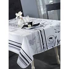 nappe en toile cirée ronde 140 cm design blanc