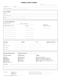 Payroll Change Form Template Word Status U2013 Verbe