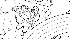 Rainbow Unicorn Coloring Pages Color And Baby