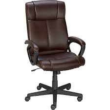 staples turcotte luxura high back office chair brown staples