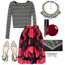 frugal fashion friday red u0026 black floral skirt