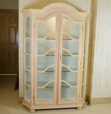 Pulaski Glass Panel Display Cabinet by Bleached Wood White Stained Lighted Curio Cabinet Ebth