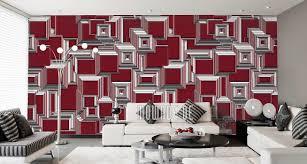 tapeten rot design mowade auf vliestapete