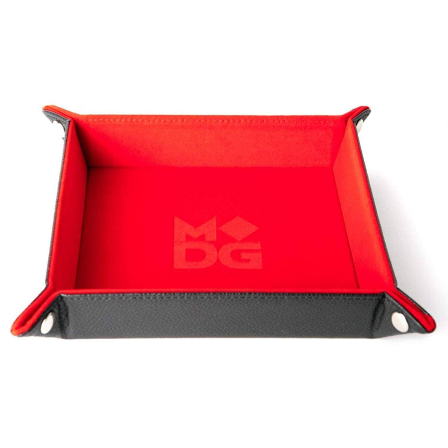 Folding Dice Velvet Tray - Red