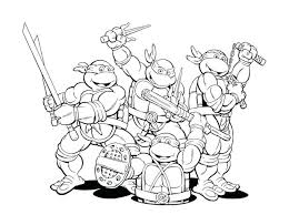 Teenage Mutant Ninja Turtles 2012 Printable Coloring Pages Free Mask Colouring Shee
