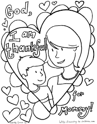 Mothers Day Coloring Pages Kids Happy Valentines
