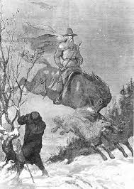Odin Continued To Hunt In Swedish Folklore Illustration By August Malmstrom Scandinavia The