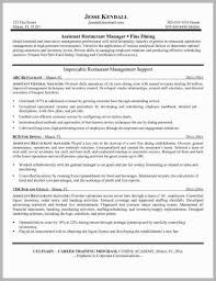 Restaurant Supervisor Resume Examples For
