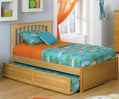 Brooklyn Full Size Trundle Bed Natural Maple