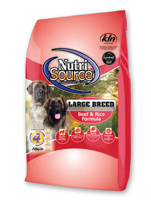 NutriSource 30 lbs Large Breed Beef & Rice Recipe Dry Dog Food