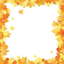 Fall borders clip art autumn leaves frame in different color