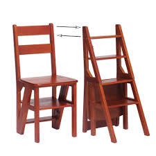 Amazon.com: Wooden Folding Step Stool Multifunctional ...