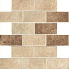 Home Depot Wall Tile Sheets by Daltile Santa Barbara Pacific Sand Blend 12 In X 12 In X 6 Mm
