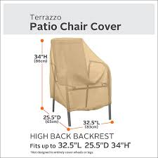 Patio Chair Replacement Slings Amazon by Amazon Com Classic Accessories Terrazzo High Back Patio Chair
