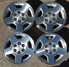 Set Of Four Wheels Rims 17 Fat Fives Chevrolet Silverado Tahoe 04 05 ...