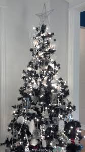 Christmas Mostiful Tree Decorations Ideas Endear Black Xmas And Silver Awesome Table Remarkable T