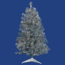 3ft Pre Lit Christmas Tree by Vickerman 5 U0027 X 36 U0027 Silver Tree 200cl Lts 675t Price