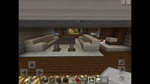 Minecraft Living Room Ideas Pe by U0027how To U0027 Build A Modern Living Room In Minecraft Pe Youtube