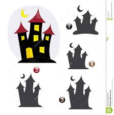 Haunted Halloween Crossword by Halloween Shape Game The Haunted House Stock Image Image 21404431