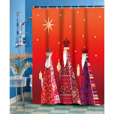 Fabrics For Curtains Uk by Waterproof Polyester Snowman Shower Curtain Christmas Shower