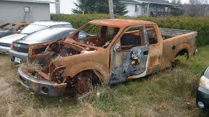 100 Burnt Truck FORD F150 STOLEN N STRIPPED AND BURNT YouTube
