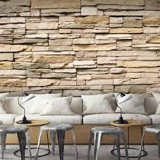 details zu vlies fototapete sandstein steinwand beige tapete wandbilder wohnzimmer 128