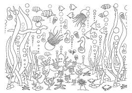 1 5 Underwater Coloring Pages