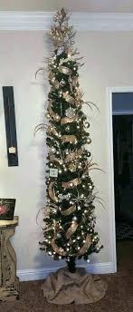 Slim Pencil Christmas Tree Decorating A Skinny Hob Lob Thin Artificial 7ft