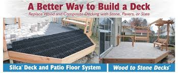 Bison Deck Supports Canada by Stone Deck Landscapes Maintenance Free Stone Decks