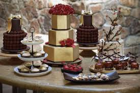 Rustic Wedding Dessert Table Cakes