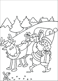 Rudolph The Red Nosed Reindeer Coloring Pages To Print Face Kids Characters