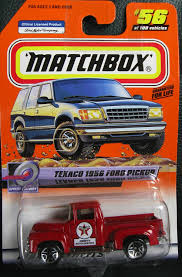 Amazon.com: 2000 Matchbox Texaco 1956 Ford Pickup Red #56 Of 100 ...