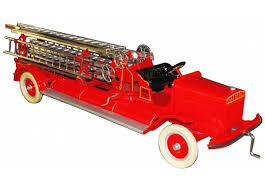 100 Antique Toy Fire Trucks 1920s Kingsbury Pressed Steel Extension Ladder Truck